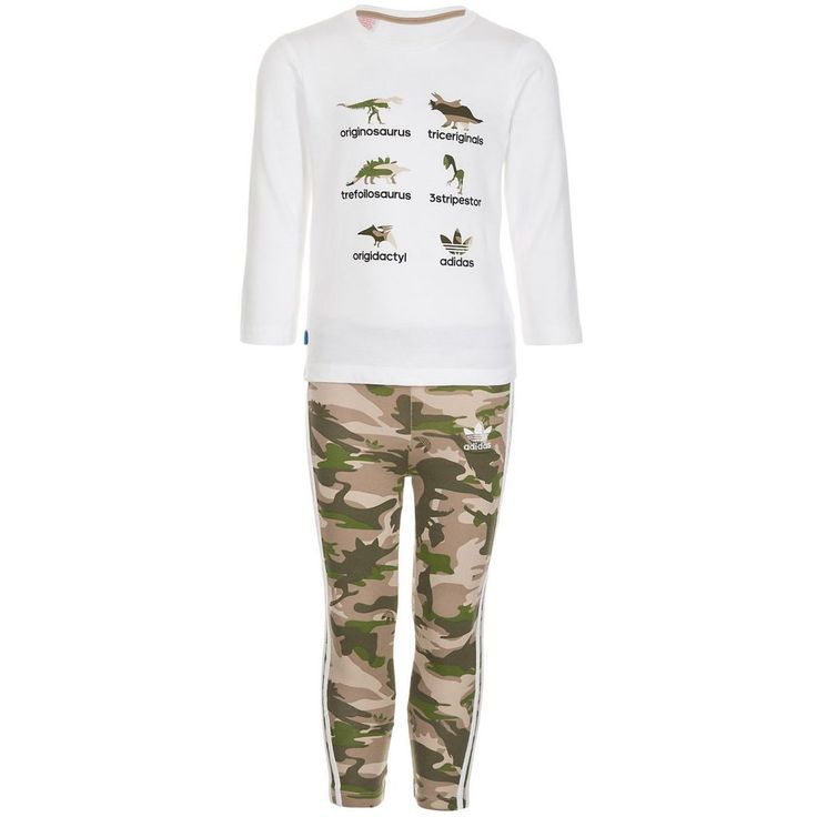 #adidas #Originals #Herren #adidas #Originals #Set: #Dino #Minikit #I #Kinder #weiß - Dino Minikit I Kinder Dieses Mini Set für Babys und Kleinkinder kommt mit Dinosaurier-Wortspielen, die deinen kleinen Originosaurus zum Strahlen bringen werden. Das Set besteht aus einem Oberteil mit Druckknopfleiste an der Schulter, die das An- und Ausziehen erleichtert, und einer beqümen Hose. Details: Oberteil: Gerippter Rundhalsausschnitt / adidas-Logo aufgestickt am Bein / Druckknopfleiste an der…