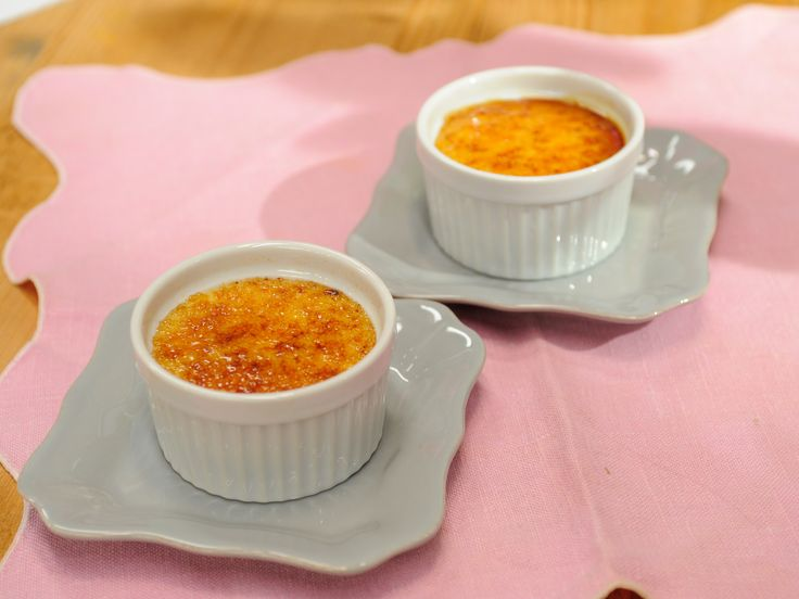 Make with non-fat heavy cream to be healthier White Chocolate Creme Brulee recipe from The Kitchen via Food Network