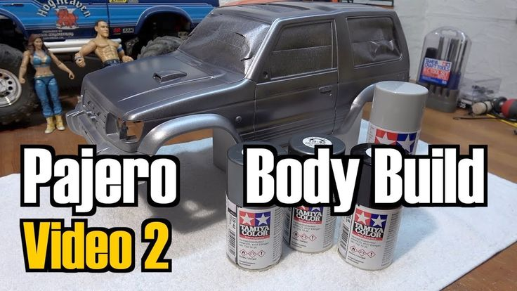Tamiya CC-01 Mitsubishi Pajero Body Build and Paintjob - Video 2