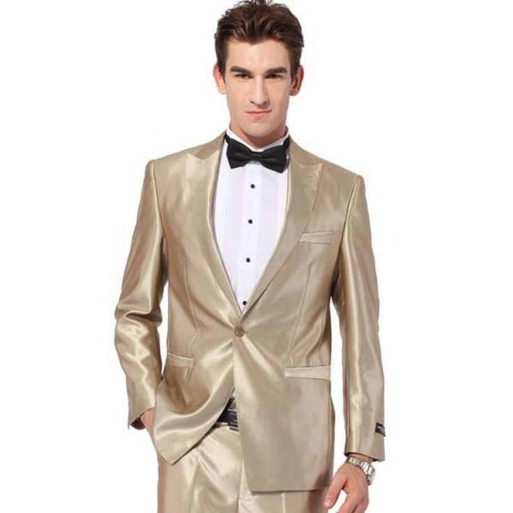 Handsome 2016 Gold Tuxedo Jacket Wedding Suit For Men Groom Tuxedos Prom Suits Best Men Suits Jacket+Pants+Tie Wedding Suits For Groom Business Suits From Dressesmall, $72.26| Dhgate.Com