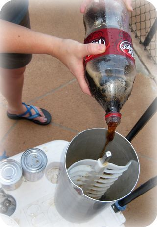 Dr. Pepper Ice Cream, Coca Cola Ice Cream...need I say more? The possibilities are almost endless.
