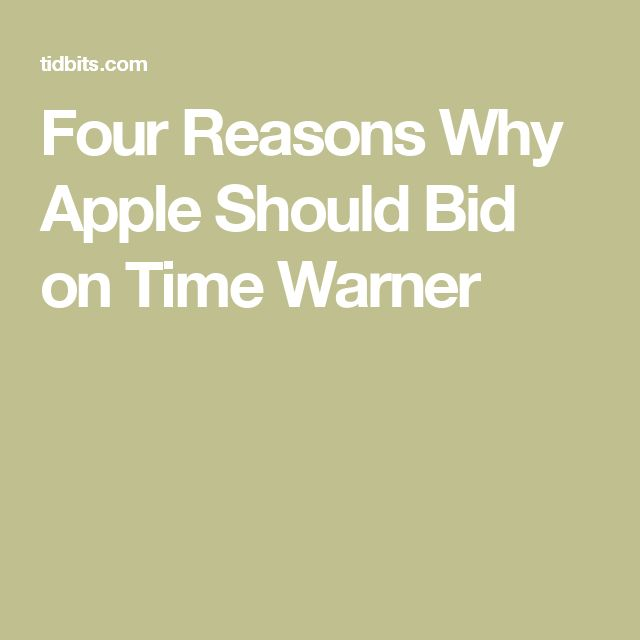 "••AppleTV gen4 & tvOS out 2015-10 but should TV buy Time Warner?•• 2016-11-14 TidBits thinks yes for 4 reasons: counter AT&T $85B bid + Netflix / Hulu / Amazon Prime boycott of TV app + TW owns HBO! + CW + ""Arrow"" + ""The Flash"" + Game of Thrones + Harry Potter on Netflix + CNN + CNW + TNT + 10% Hulu • 1. Content = currency + negotiating chip w/ content providers  2.Buying Netflix is dangerous (studios fear its ctrl)  3.time to spend Apple's $238B cash 4.TW runs independently (alienate…"