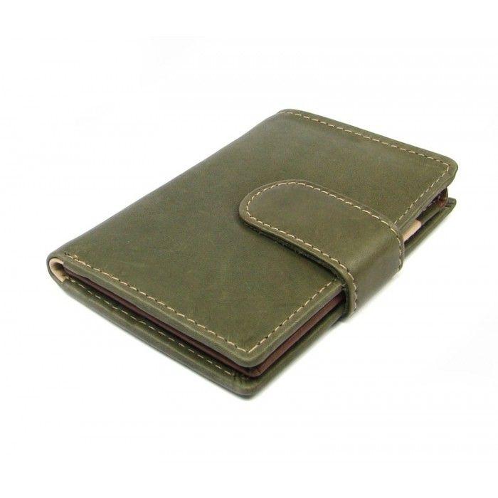 Luxusní kožené pouzdro na karty zelené - peněženky AHAL