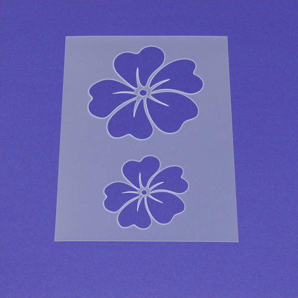 Schablone Blume Stiefmütterchen Blüte - MF21 von Lunatik-Style via dawanda.com
