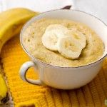 Havermout mug cake met banaan | Eat.Pure.Love