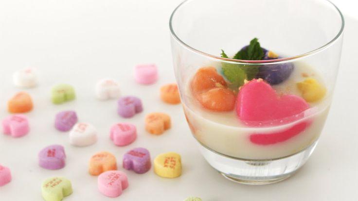 Candy Heart Coconut Dumplings | キャンディーハートのココナツミルク入り白玉