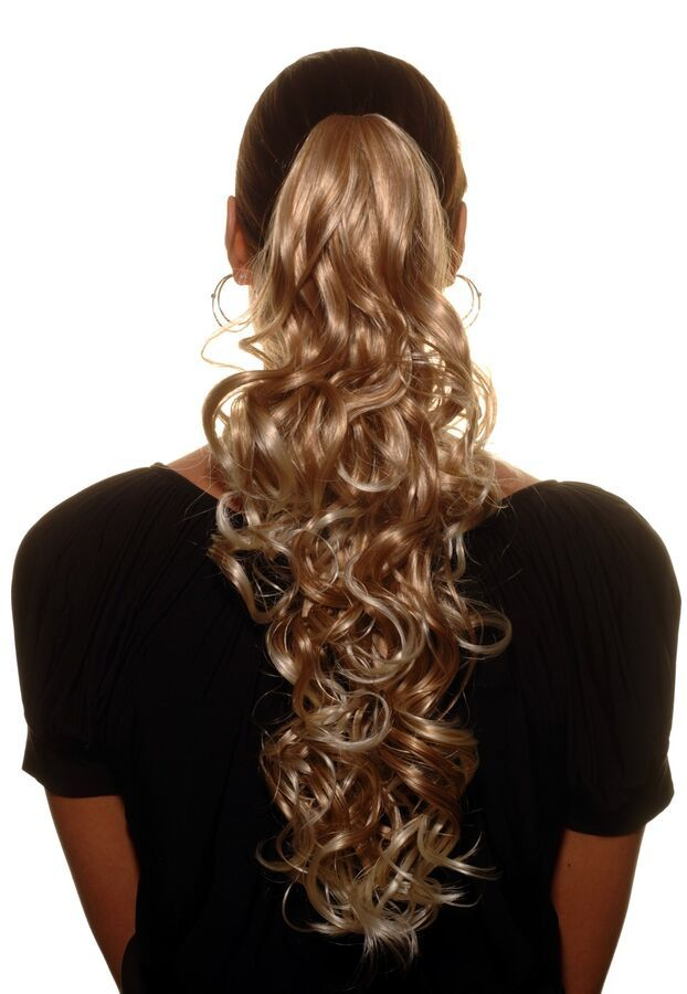 65d69d47176 Hairpiece Plait Butterfly Clip Curly Long Blonde Platinum Highlights 17  11/16in 4260196060035 eBay#Curly#Long#Blonde