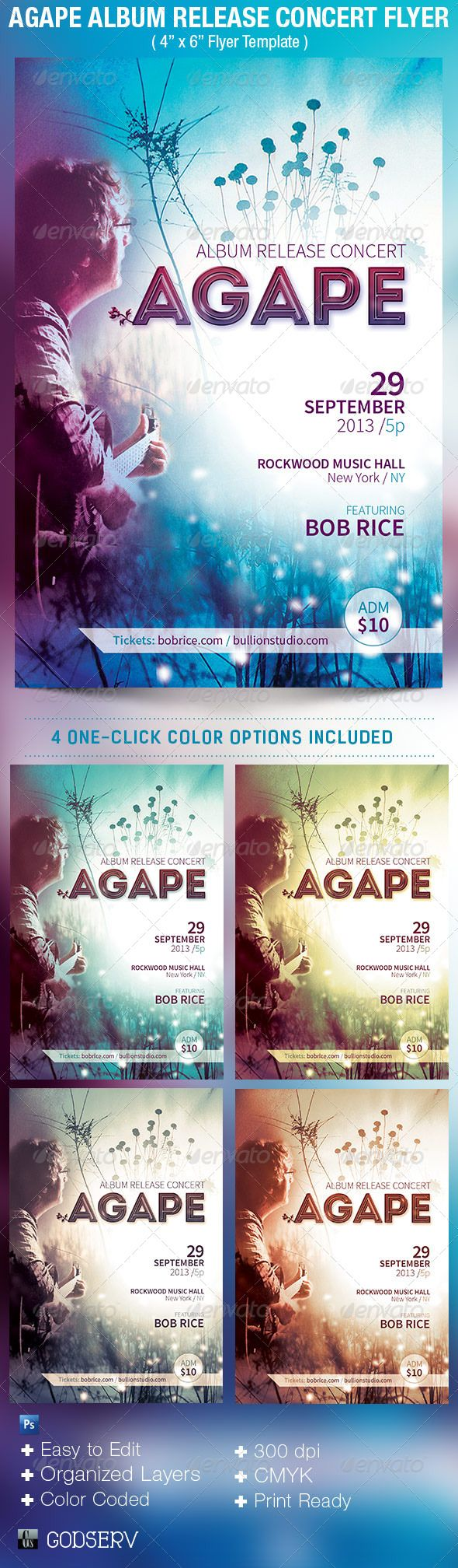 images about christian design flyer template agape album release concert flyer template