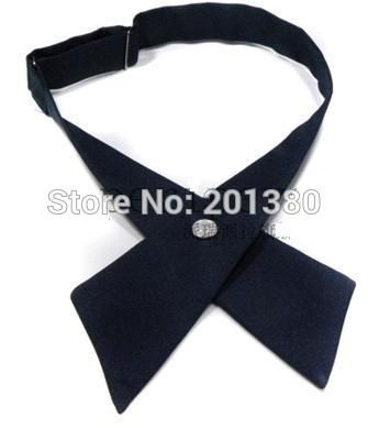 crossover solid butterfly bow tie knot bowtie men's necktie women's neck ties ascot cravate for women 7colors