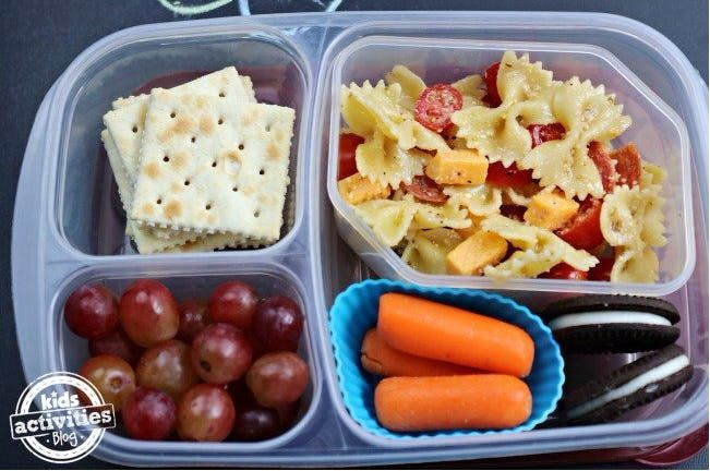 There is something so simple but yet healthy about a Kids Pasta Salad — especially to use it as a side dish or even as a main dish for your kiddos school lunch. I also love that you can add all of your kid's favorite ingredients into a pasta salad.