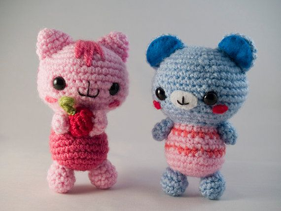 ** These are crochet patterns, NOT the finished toys **    Get this cute couple now in this great combi deal! The cuteness of this baby bear and