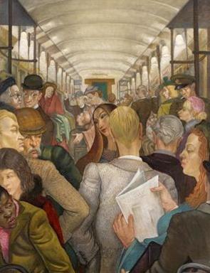 Edward Bainbridge Copnall (1903-1973), The Tube Carriage, 1954.