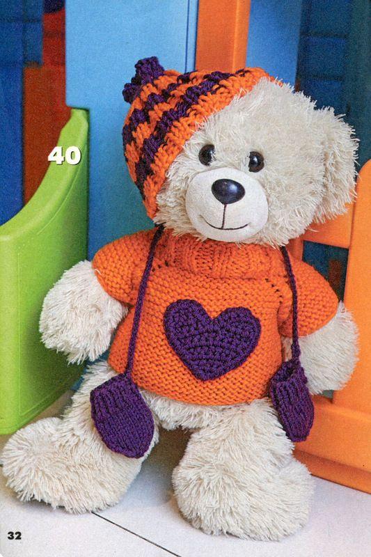Вязаный креатив. Одежда для кукол и медвежат - №1 - 2012