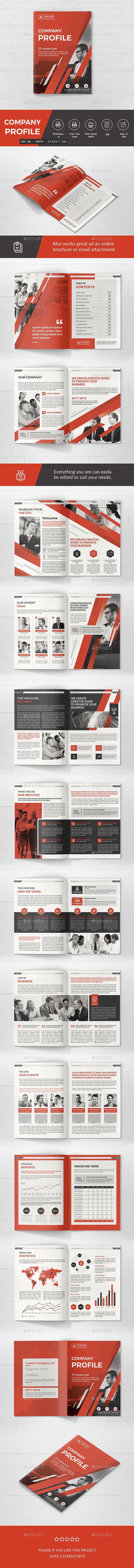 #Company #Profile - Corporate #Brochures Download here: https://graphicriver.net/item/company-profile/19586040?ref=alena994