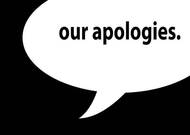 our apologies. (blank inside) card #Ad , #AFFILIATE, #apologies, #blank, #card