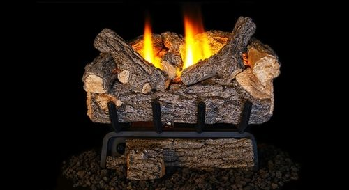 Real Fyre Valley Oak Ventless Gas Logs Set with Safety Pilot Kit