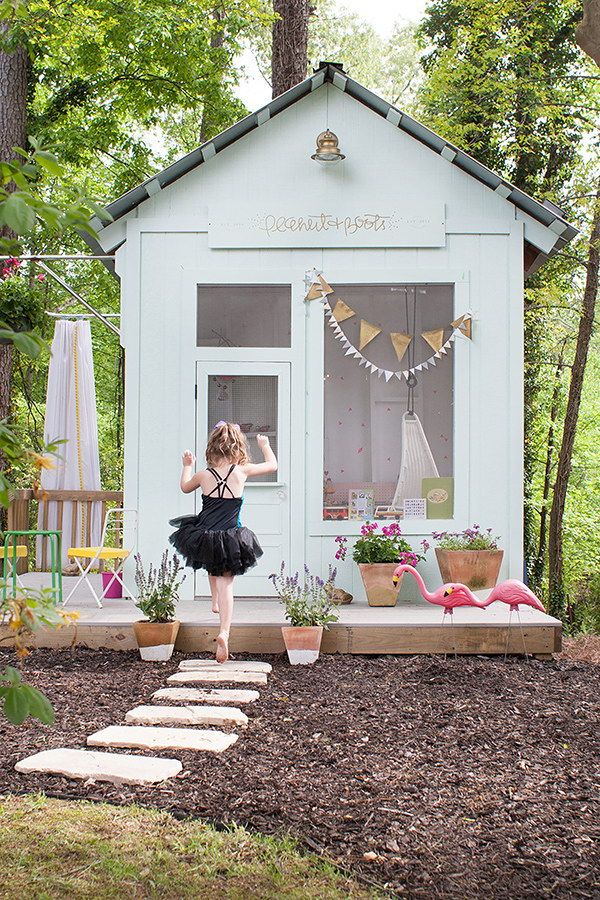Dreamy Kids' Playhouses in the Backyard.