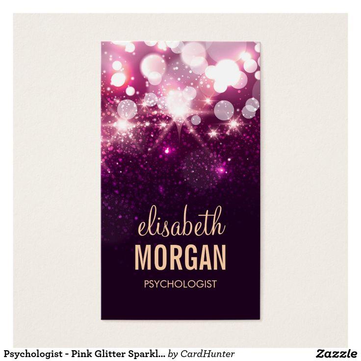 Psychologue - étincelles roses de scintillement cartes de visite