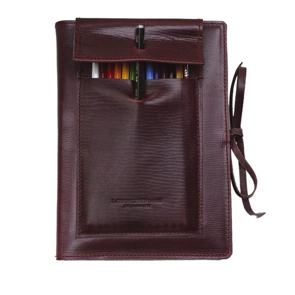 Leather Hoxton Pencil Pad   Artists Leather Accessories From L.