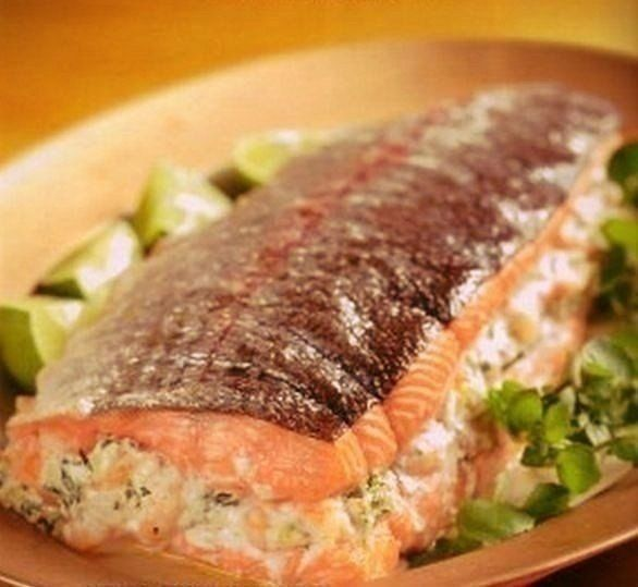 Запеченная рыба со сливками.