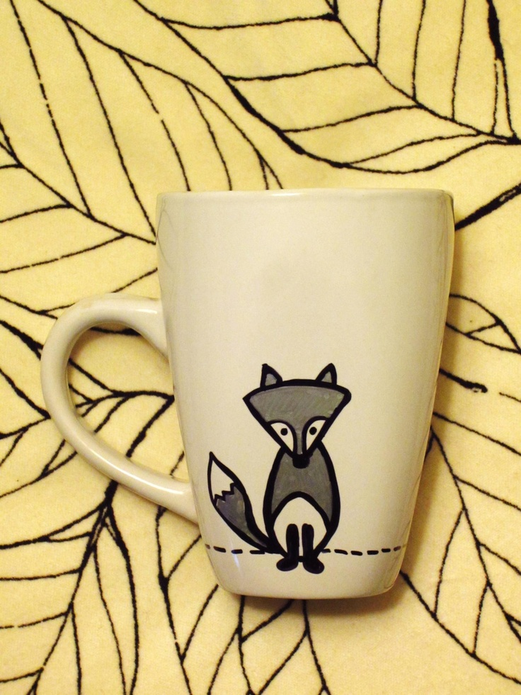 Crazy Like a Fox Hand Painted Mug / Cup. $10.00, via Etsy.
