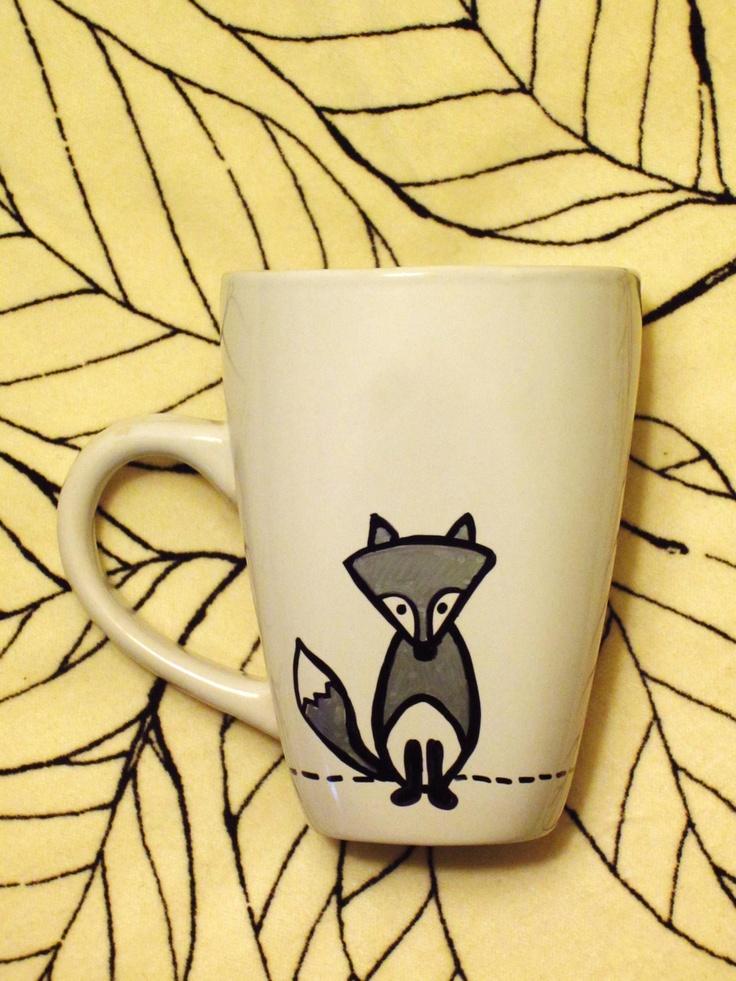 Crazy Like a Fox Hand Painted Mug / Cup. $10.00, via Etsy.