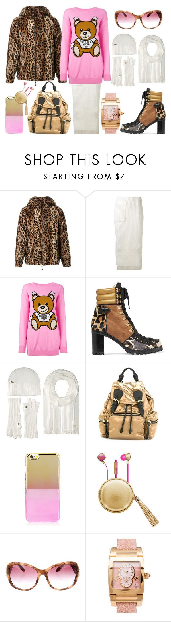 """""""Teddy The Animal"""" by sanya-styleup ❤ liked on Polyvore featuring DressCamp, Joseph, Moschino, Christian Louboutin, Burberry, The Macbeth Collection, Bulgari and de Grisogono"""