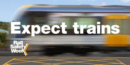 """Expect Trains"" is the theme for Rail Safety Week. Young people need to stay alert and keep safe whenever they are around stations and level crossings. Rail Safety Week runs from 10-16 August 2015. This is a good time for teachers to work with students on deepening their knowledge of safety near the rail network. Pam Hook is the writer of rail safety curriculum resources published by the NZ Transport Agency."
