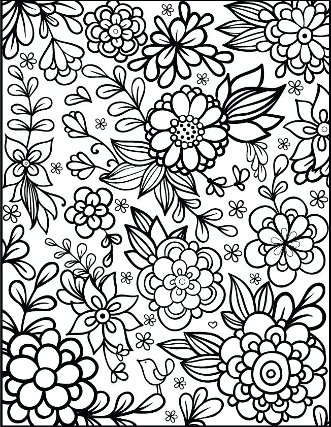 Free Floral Printable Coloring Page from filthymuggle.com