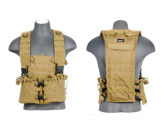 Carry your Magazines and extra accessories with the Lancer Tactical M4 Airsoft Molle Chest Rig! This high quality and very cleverly designed chest rig.