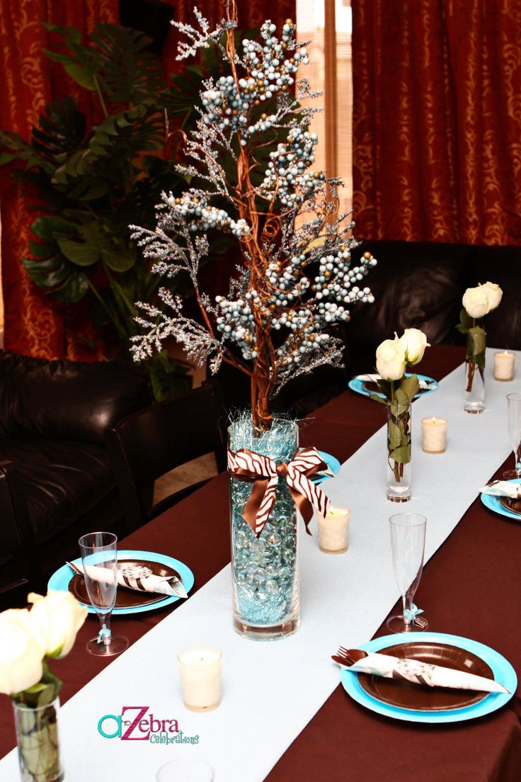 Winter baby shower centerpieces love my future mini
