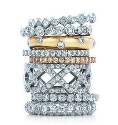 I LOVE stackable rings!!! Tiffany & Co. Celebration Rings