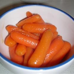 Sweet Baby Carrots. I only used 1/4 cup of butter and 1/4 cup of brown sugar and they were great!!! Husband loved them. Didn't use any honey.