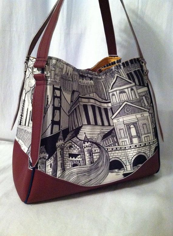 Swoon Patterns: Charlotte City Tote PDF Vintage von SwoonPatterns