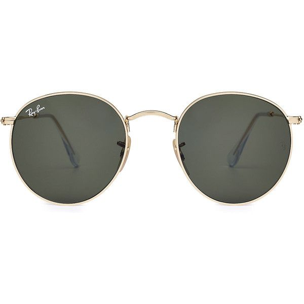 Ray-Ban RB3447 Round Metal Sunglasses found on Polyvore