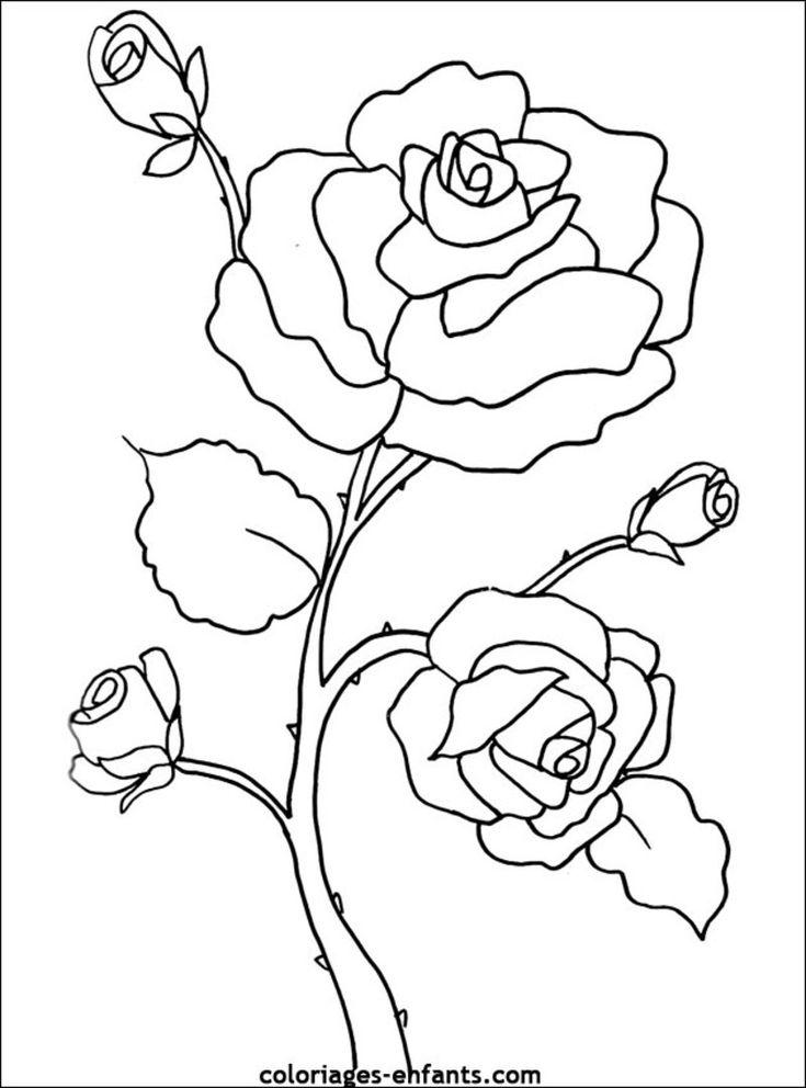 10 ideas about fleur colorier on pinterest coloriages - Dessin fleur a colorier ...