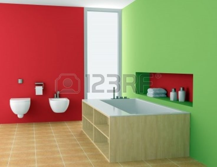 red and green walls - Painting Walls Red