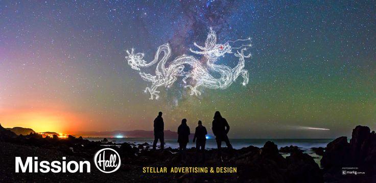 Billboard design Stellar Advertising and Design – Mission Hall Wellington New Zealand