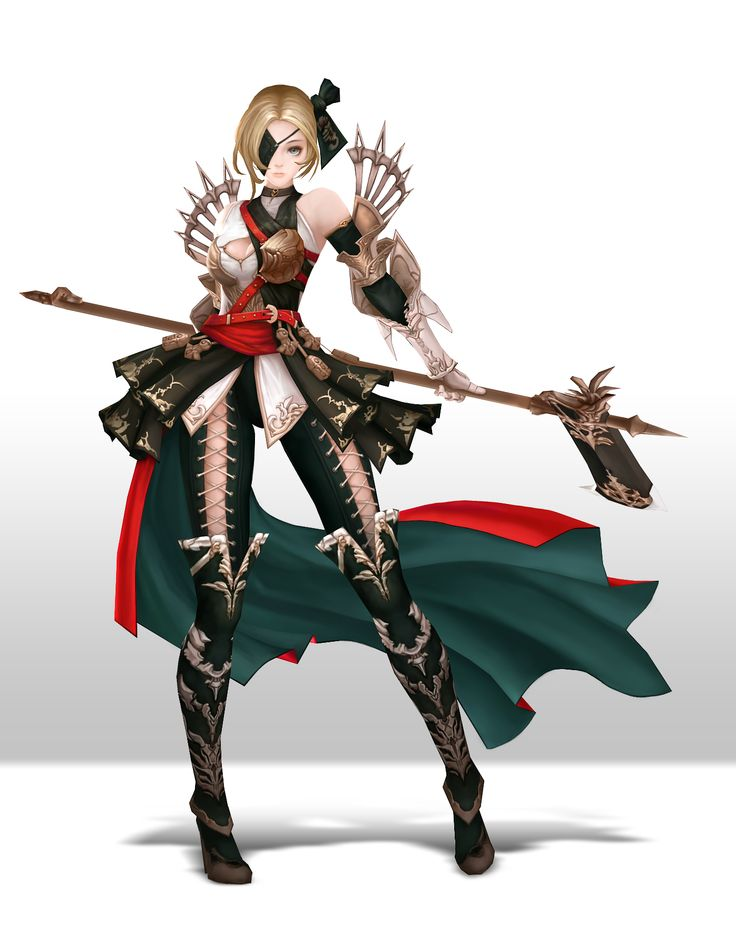 3d Character Design Ideas : Axegirl d low poly character anime style korean