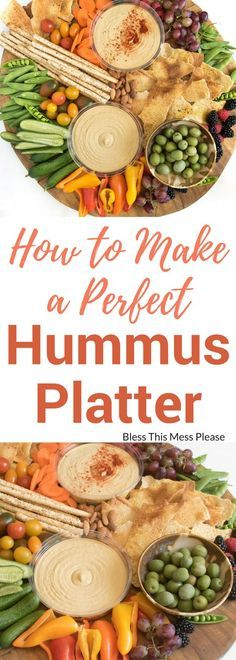 How to Make a Perfect Hummus Platter | Healthy Snack Ideas