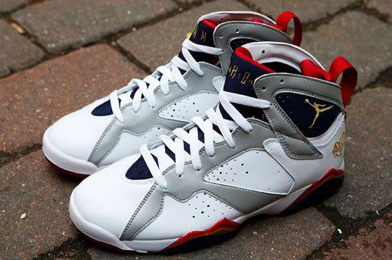 "Jordan 7 Retro ""Olympic"" . Share more New Jordans 2014 joy with my blog www.23isback.me ."
