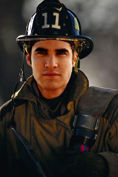 firefighter Blaine.  glee fandom.
