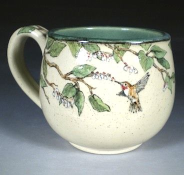 Hand Painted Pottery with Animal and Dog Art by Nan Hamilton Boston MA: