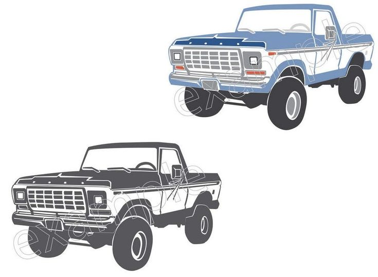 ford truck bronco svg silhouette cricut 1978 classic cars chevy studio trucks clipart lifted f150 space pickup clip 1979 vector