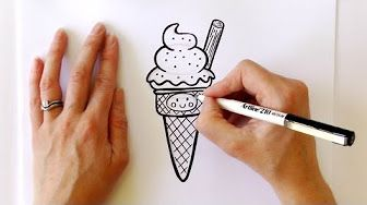 How to Draw a Cartoon Cupcake - YouTube
