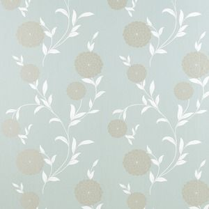 Erin Duck Egg Floral Wallpaper