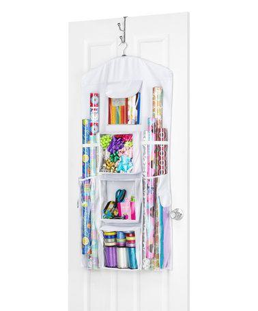 Loving this Hanging Gift Wrap Organizer on #zulily! #zulilyfinds