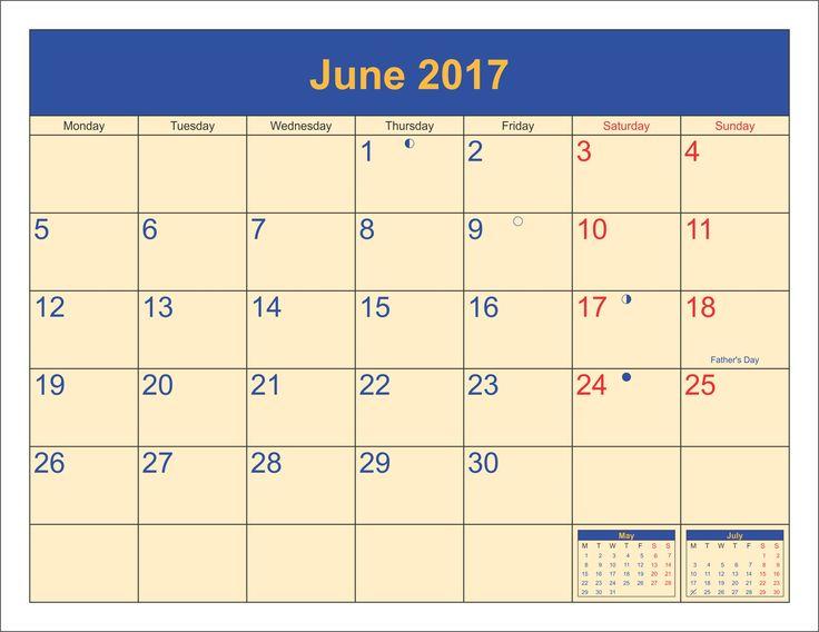 32 best june 2017 calendar images on pinterest 2017 calendar 2016 september calendar with holidays sciox Images