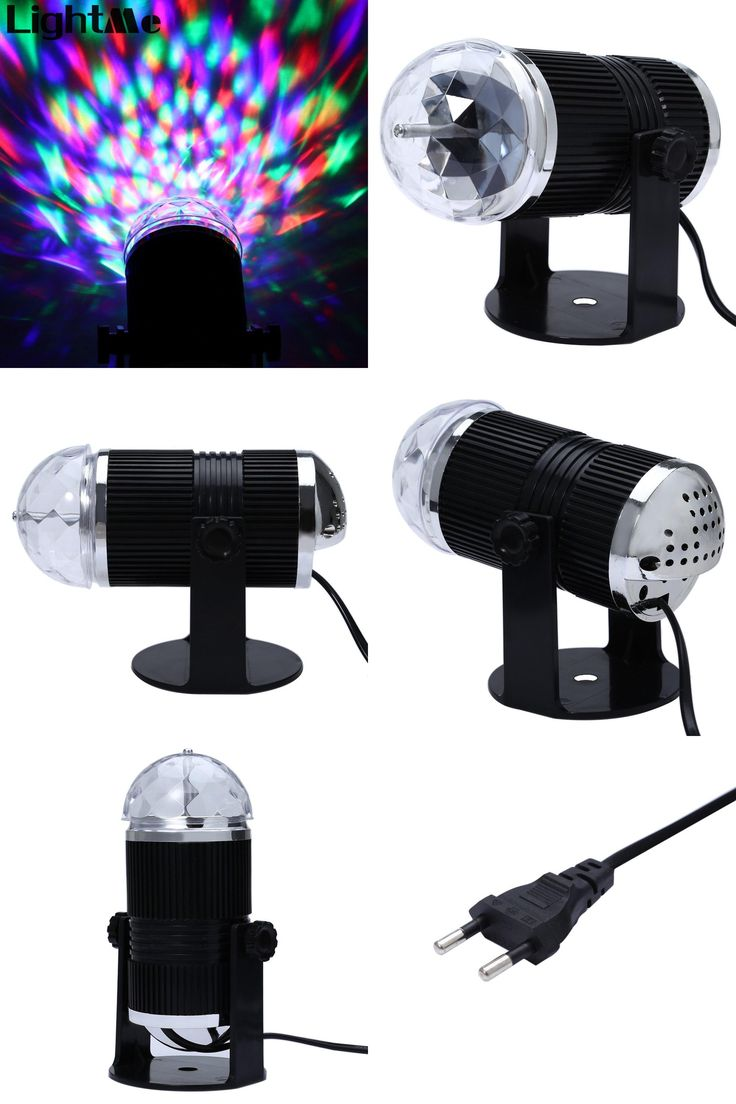 [Visit to Buy] Colorful Sound Activated LED Light Magic Ball Disco DJ Laser Crystal Stage  Lighting For Home Entertainment KTV Bar On Sale #Advertisement