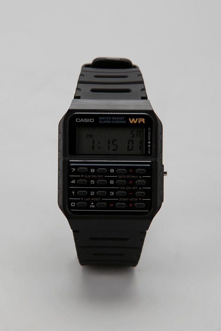 80's Casio Calculator Watch - I remember teachers would make kids take them off who were wearing them in class